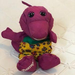 Vintage Playskool Barney Dinosaur Plush 90s Kid